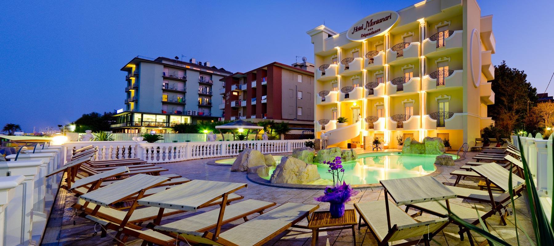 Hotel montanari 3 stelle bellaria con piscina ideale per for Hotel a barcellona 3 stelle